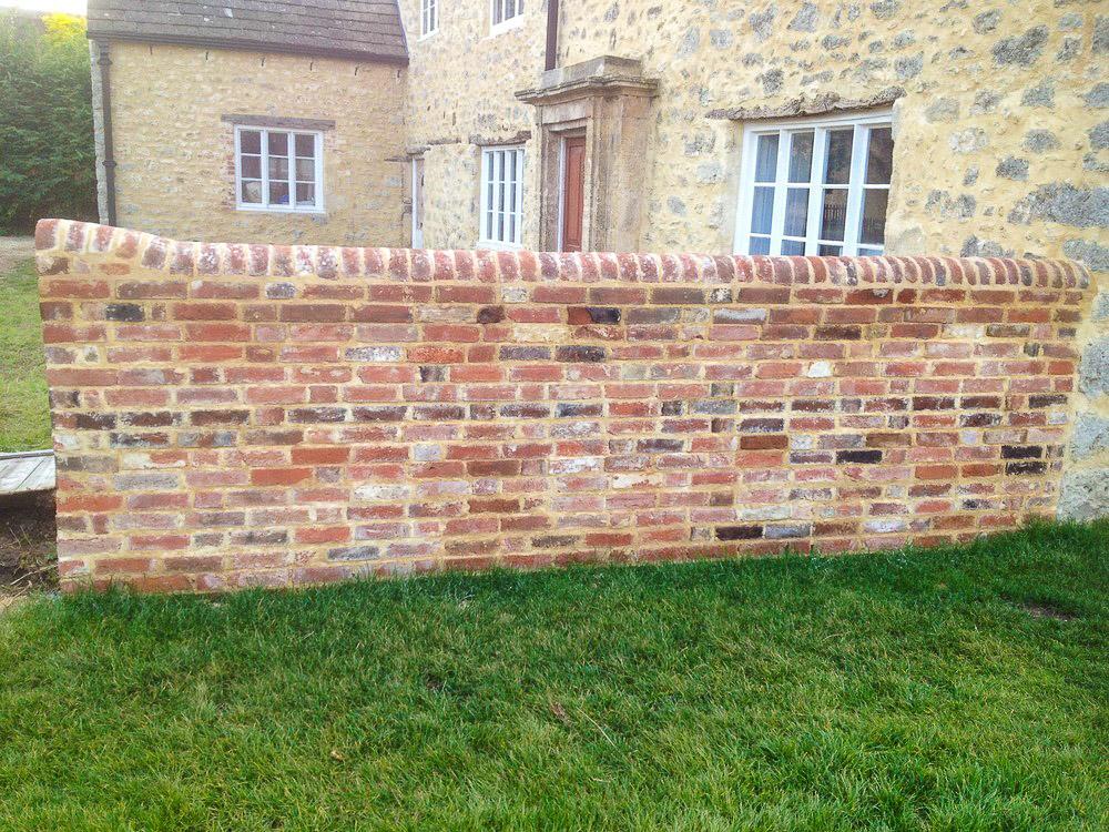 Reclaimed Brick Lime Mortar Flemish Garden Wall Bond